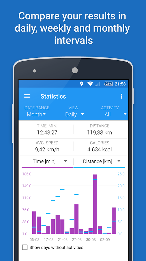 GPS Sports Tracker - Running & Cycling- screenshot