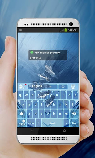 Blue harmony GO Keyboard