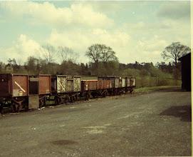 Photo: Coal trucks in the siding at Charlbury (1969)