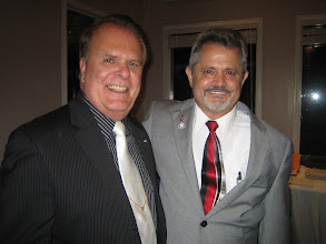 Photo: Jeff McDevitt (Interact Club Sponsor) with President Dennis Robinson (Rotary Club of DeBary-Deltona) at Installation Banquet on June 8, 2012