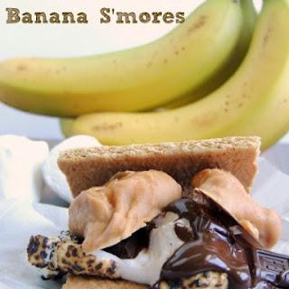 Fluffernutter Banana S'mores