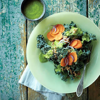 Kale Salad with Green Garlic Dressing.