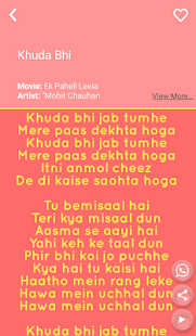 Hit Mohit Chauhan Songs Lyrics - náhled