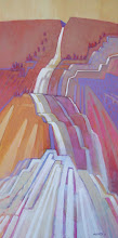 Photo: Falls, acrylic on canvas by Nancy Roberts, copyright 2014. Private collection.