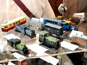 Photo: 017 Display photo 1. Paul Titmuss's super Billard railcar is the red and cream vehicle at the back .