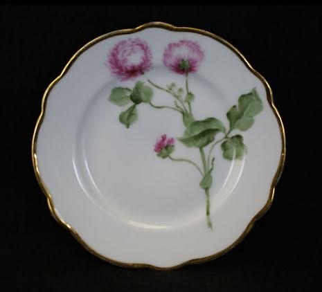 handmålade blomstermotiv Assiett 15,5 cm klöver