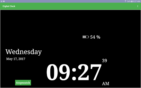 Download Digital Clock Second Stopwatch For PC Windows and