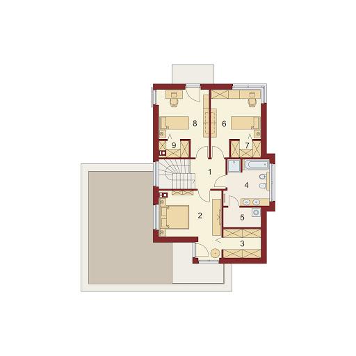 Klara 2 PS - Rzut piętra