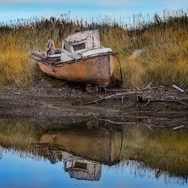 Abandoned old Boat by Patricia Phillips - Transportation Boats ( alaska abandoned boats )