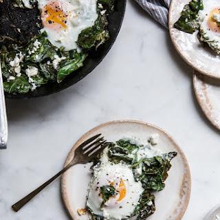 Garlic Ginger Collard Greens + Eggs & Feta