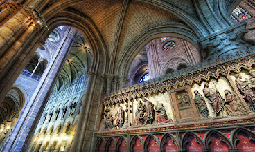 Photo: Exploring the Cathedral - Notre Dame Cathedral Interior - France  No tripods allowed. I think maybe it said this in French. Or English. I can't remember because I ignored it. How are you supposed to get a decent photo inside Notre Dame without a tripod?  from the blog www.stuckincustoms.com
