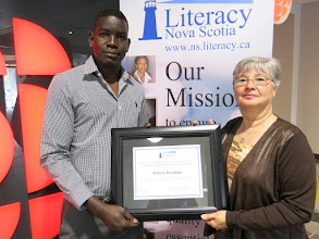 Photo: 2016 Gary Mason Learner Achievement Award Winner Hakim Ibrahim with Janice Mason, the wife of the late Gary Mason, who passed away in January 2016.