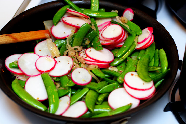 Crunchy Napa Cabbage Asian Slaw With Sugar Snap Peas, Radishes ...