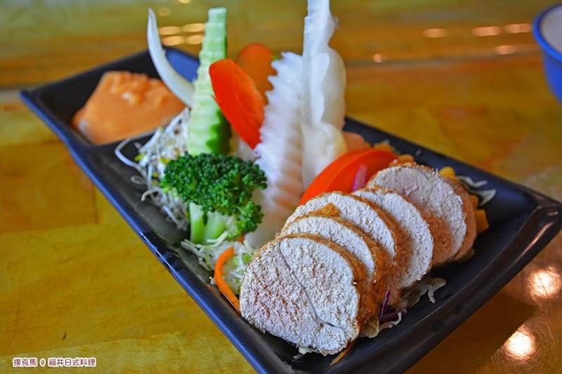 南投福井日式料理魚卵沙拉