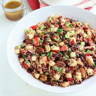 Madagascar Red Rice Salad with Apples & Cranberries.