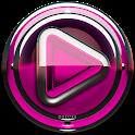 Poweramp skin Pink Glas deluxe icon