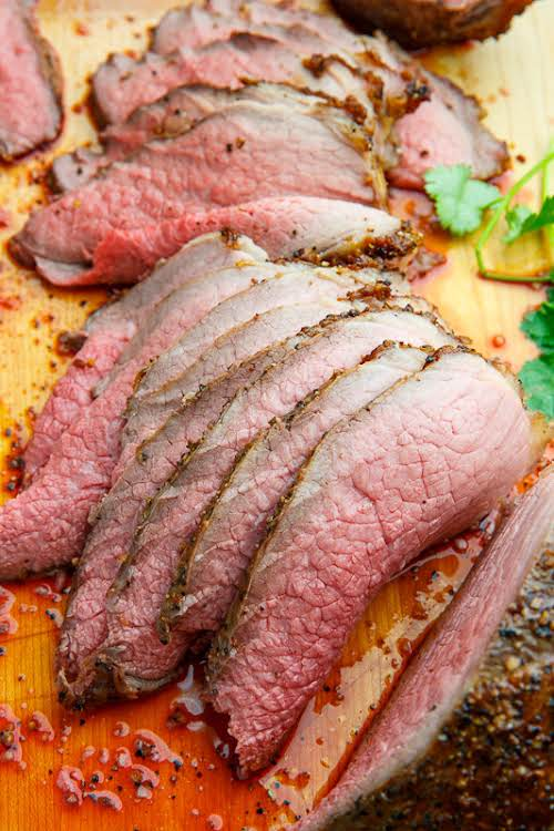 "Click Here for Recipe: Perfect Eye of Round Roast Beef ""The trick..."