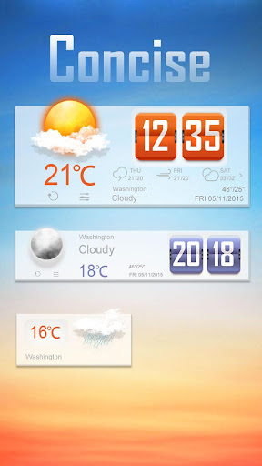 Concise Weather Widget Theme