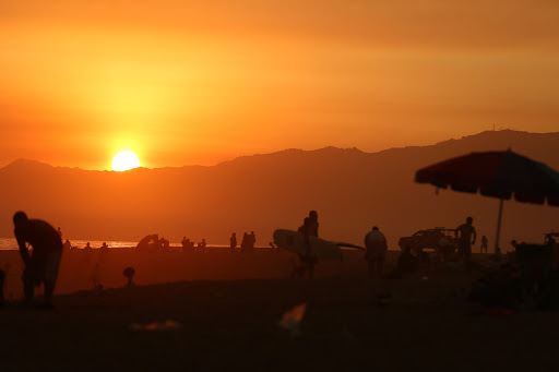 sunset-venice-beach.jpg - A fiery sunset over Venice Beach, California.