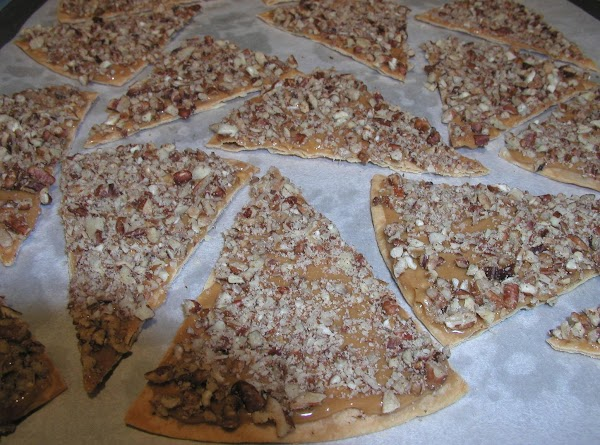 Once you are all done with the caramel and pecans, microwave milk chocolate chips...