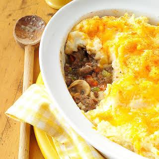 Mashed Potato Beef Casserole.