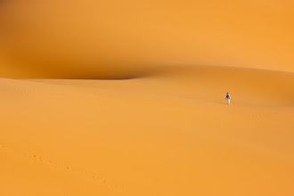 Photo: I have no idea where this guy came from but I hope he knows where he's going. Saharan Desert, Morocco