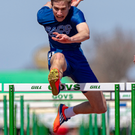 High Stepping by Bob Grandpre - Sports & Fitness Other Sports ( race, track and field, 100m, track, hurdles )