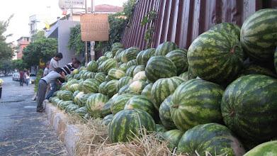 Photo: Watermelon season- only 1 lira each