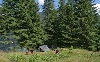 Photo: 1. plánované tábořiště a jídlo. Jídlo se nepovedl a pro nízkou polohu tábořiště, s obavy návštěvy medvědů, se pokračovalo dál ve výstupu.