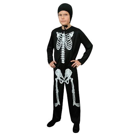 Barndräkt, skelett 134/140 cl