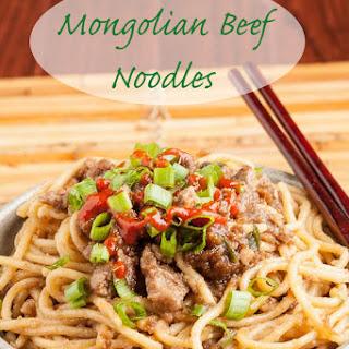 Mongolian Beef Noodles.