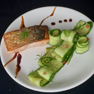 Bright and Simple Salmon with Sesame Cucumber Salad, Fennel, and Soy