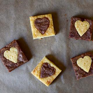 White and Dark Heart Brownies
