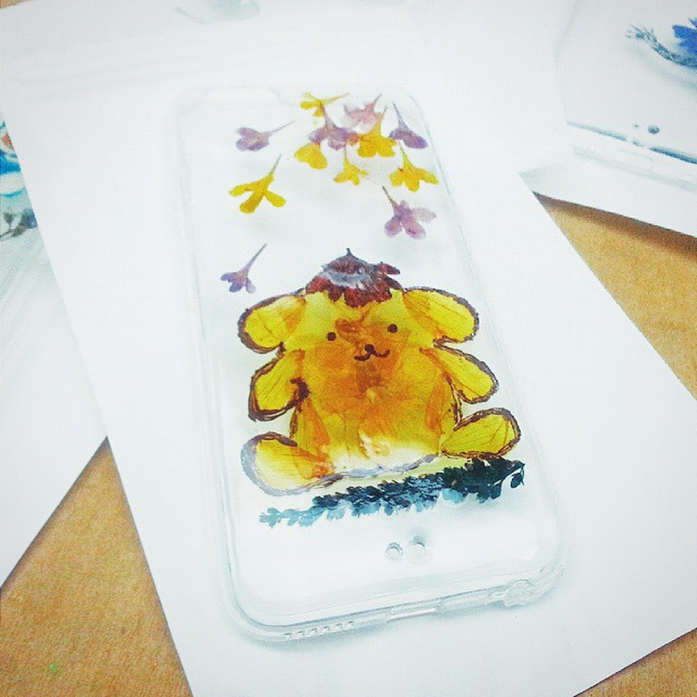 [訂製/custom-made] Pudding Dog - Pressed Flower