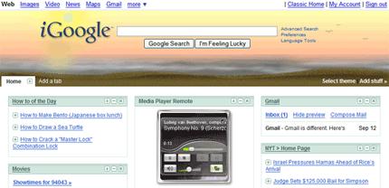 iGoogle Desktop widgets