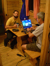 Photo: It was raining on the first night so we wussed out and got a cabin at a campground. Really roughing it!