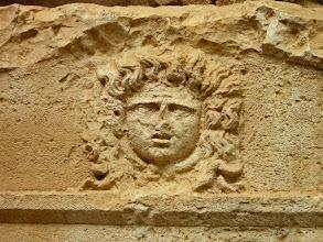 Photo: Vaulted Sarcophagus from 2nd century AD built for captain Eudemos. Detail ********** Gewelfde Sarcofaag uit de 2de eeuw van kapitein Eudemos. Detail.