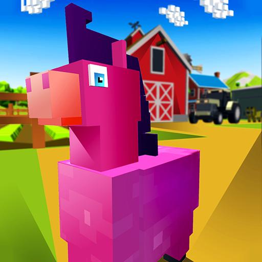 Blocky Pony Farm 3D