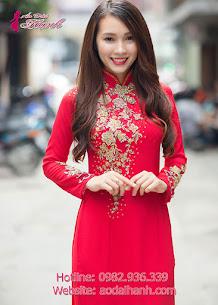 áo dài cưới vải lưới