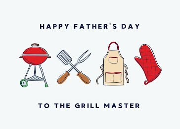 To the Grill Master - Father's Day Card Template