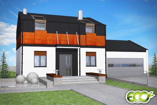 projekt Regullus z garażem 2-st. A1