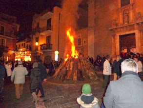 Photo: Christmas Eve bonfire at largo Sta Caterina, but no Midnight Mass