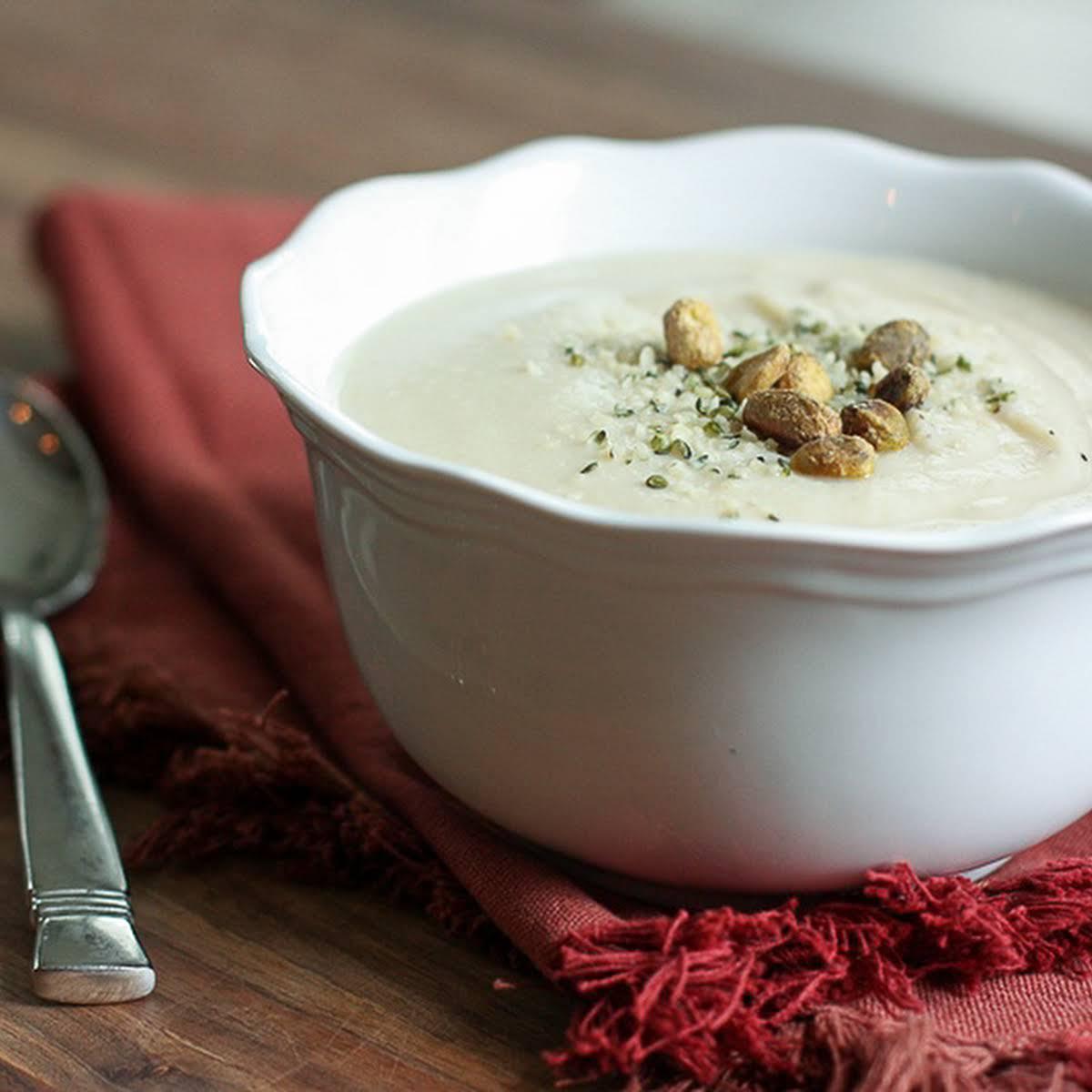 Clean Eating Cauliflower Soup
