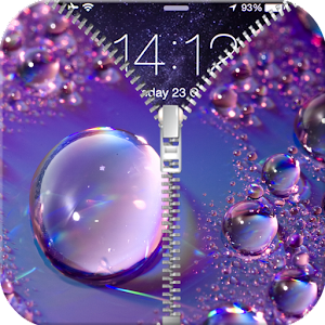 Raindrops Zipper Lock Screen
