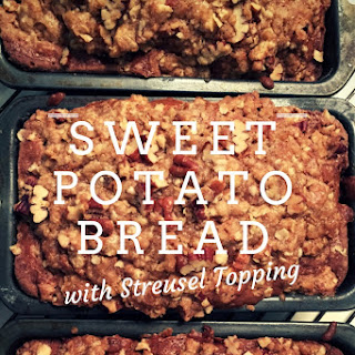 Sweet Potato Bread with Streusel Topping