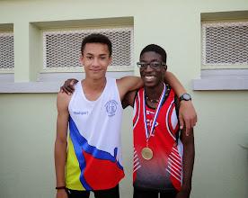 Photo: Brice et Florian BARBIER Champion d'Aquitaine Minimes 100 m et Recordman de France 100 m Minimes 11s 08