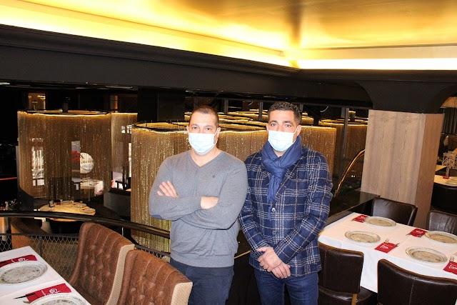 Los hermanos Juan Manuel y Pedro Segura en su restaurante Stanley & de Marco.
