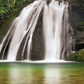Janet's Foss by Darrell Evans - Nature Up Close Water ( yorkshire, cliff, countryside, janet's foss, pool, water, outdoor, environment, falls, yorkshire dales, rocks, malham, waterfall, landscape )