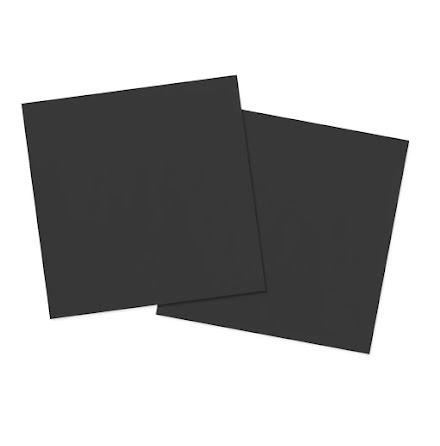 Servetter, svart, 20st
