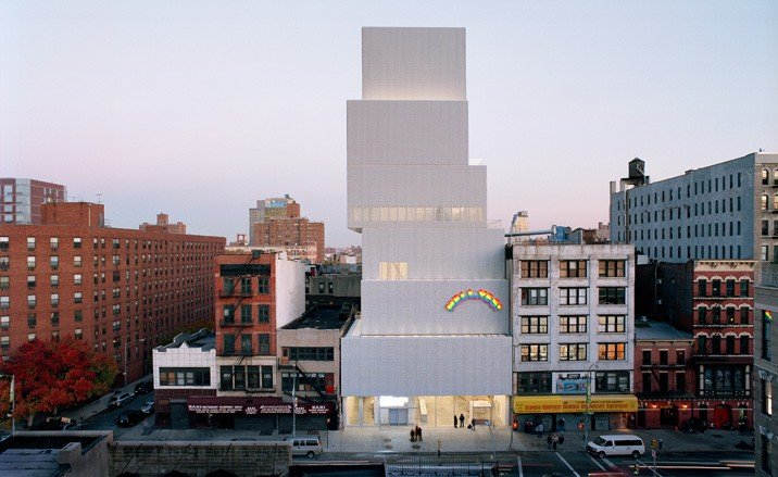 The stacked boxes of the New Museum. Photo: New Museum of Contemporary Art.